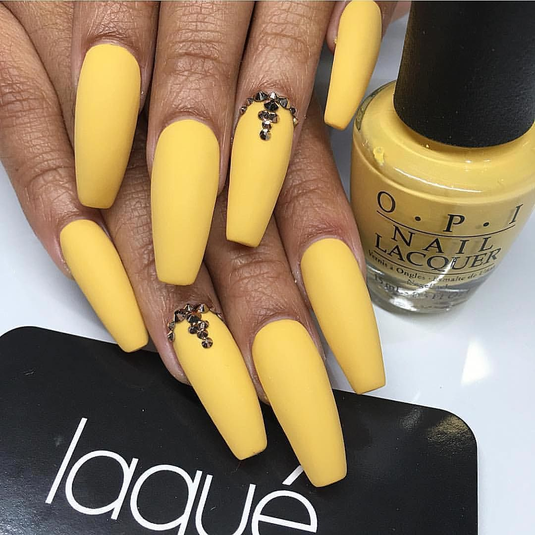 Canary Yellow Tips Yellow Nails Claw Nails Coffin Nails
