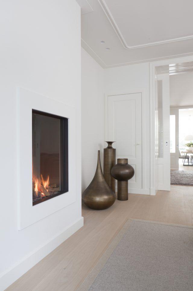Interieur werkkamer met open haard | woonkamer ideeën | living ...