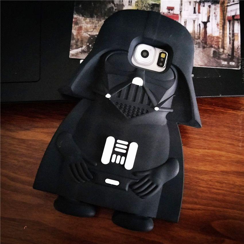 For Samsung Galaxy S6 Edge S7 S7Edge Cases Star Wars 3D Black ...