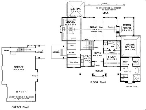 First Don Gardner Floor Plan With Finished Basement And Sunroom House Plans Small Floor Plans How To Plan