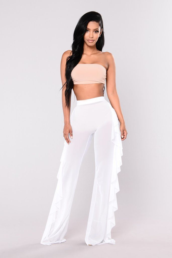 b4092967aef29 Sunshine See Through Cover Up Pant - White | Fashion Nova | Pants ...