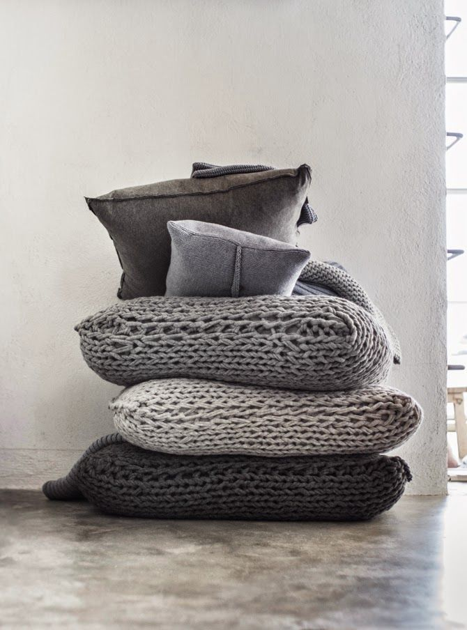 Handknits for the home.
