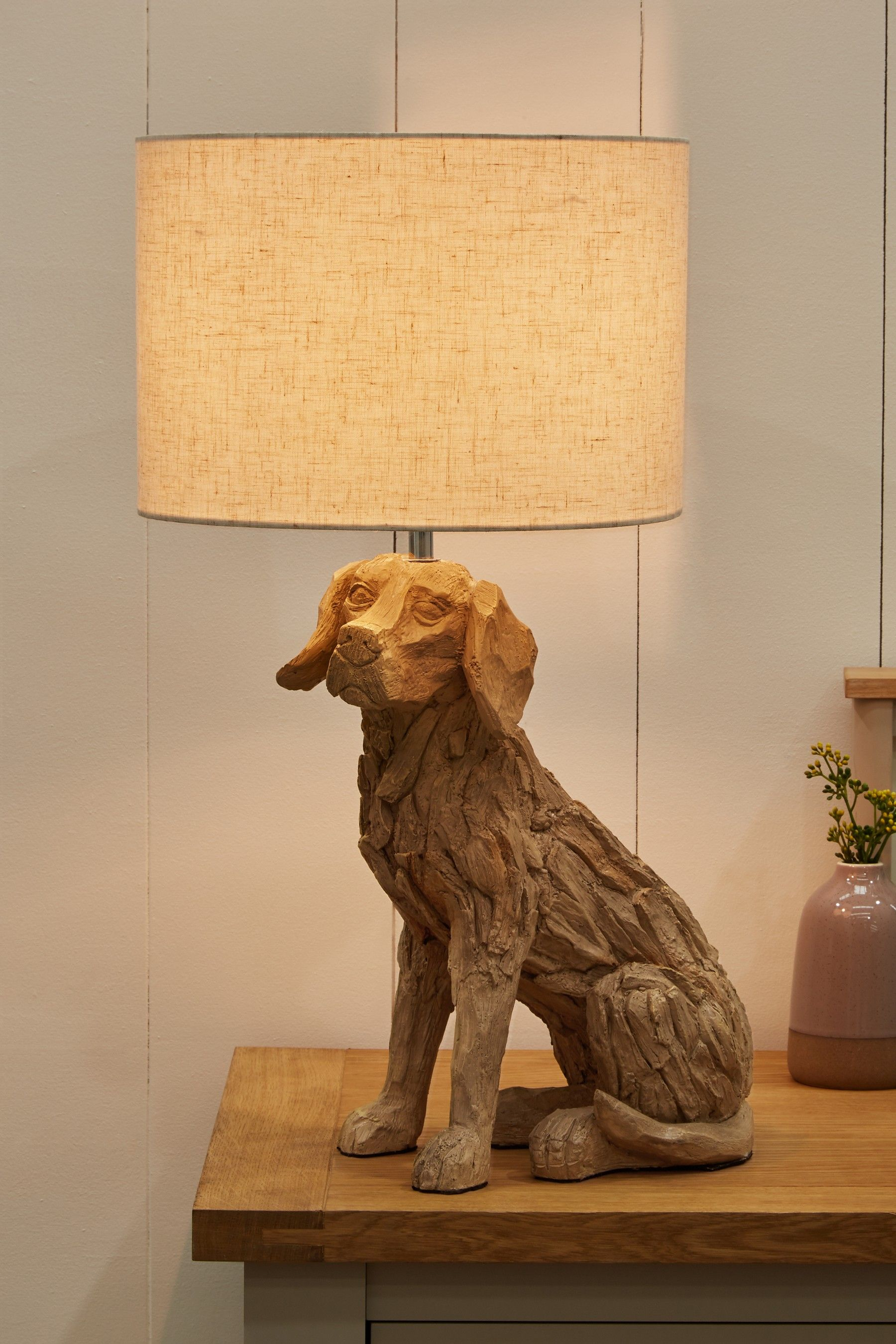 Next Driftwood Dog Table Lamp Natural Dog Table Dog Lamp Lamp