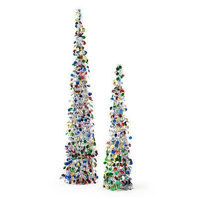 collapsible silver tinsel trees 2 pack at big lots - Big Lots Christmas Trees