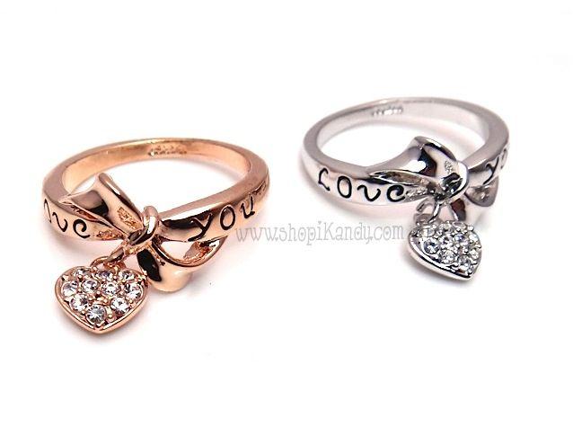 Love You Dangling Heart Ring ❤ iKandy ❤ Pinterest