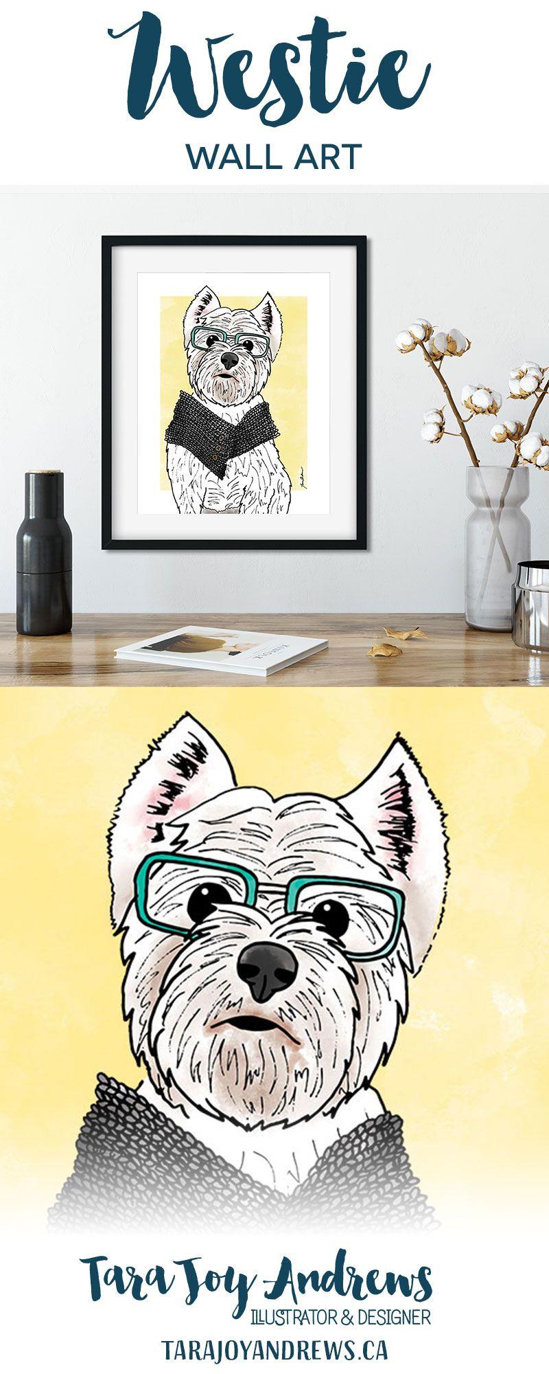 Westie Home Decor Art Print Etsy Art Dog Print Art Art Prints