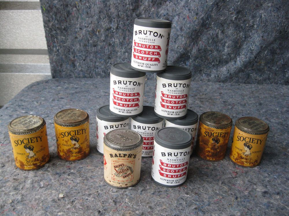 Vintage Lot Of Full Tobacco Snuff Tins Seepicturesforbrands Vintage Tin Tobacco