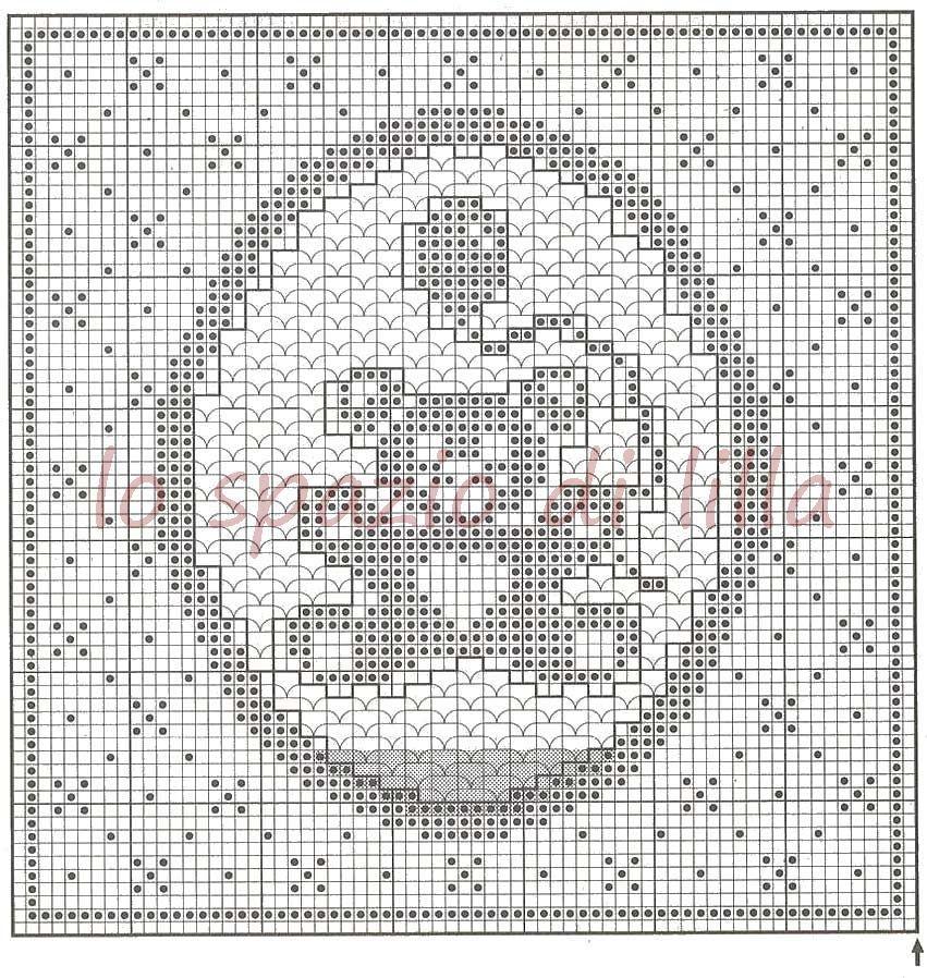 Copertine filet neonato schemi ol38 regardsdefemmes for Lo spazio di lilla copertine neonato