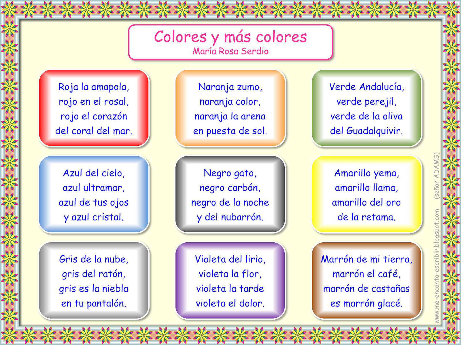 Spanish poems for kids short color poems in spanish colors in spanish poems for kids short color poems in spanish colors in spanish http robcynllc Image collections