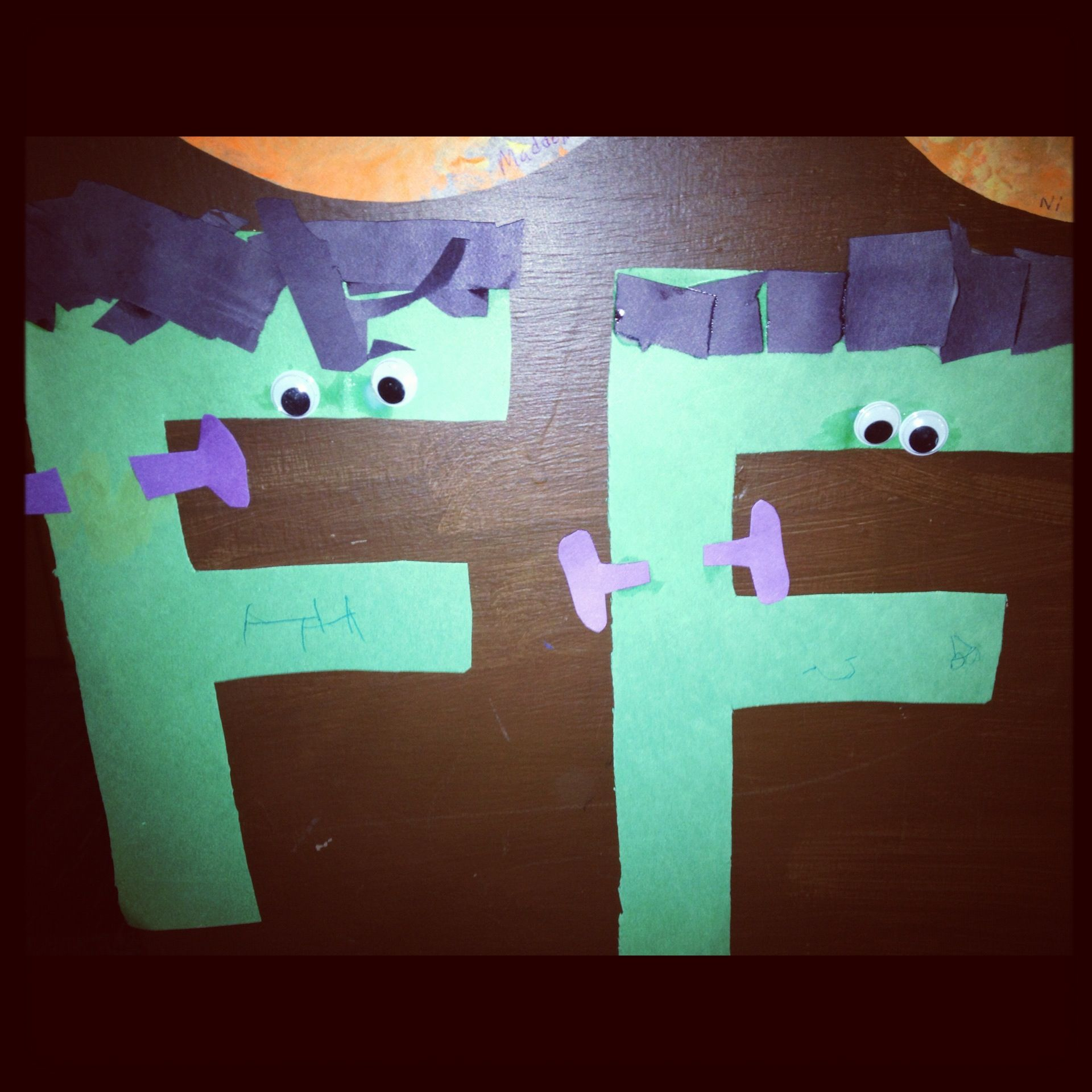 preschoolers are doing f this week letter f craft for. Black Bedroom Furniture Sets. Home Design Ideas