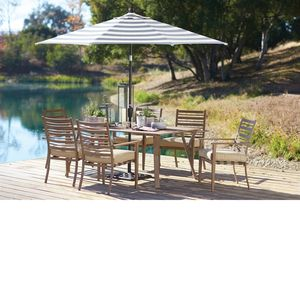 Point Reyes Umbrella With Dining Table And Chairs · Orchard SupplyTable ...