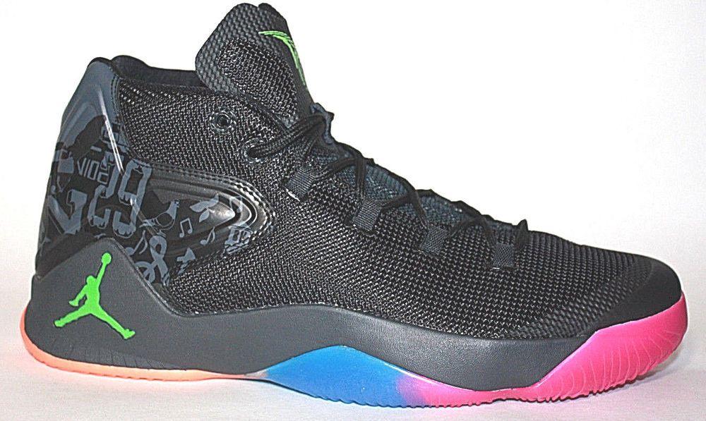 watch 06317 e7f30 Nike Jordan Melo M12 Black Dungeon Basketball Shoe Mens Black 827176-030   fashion