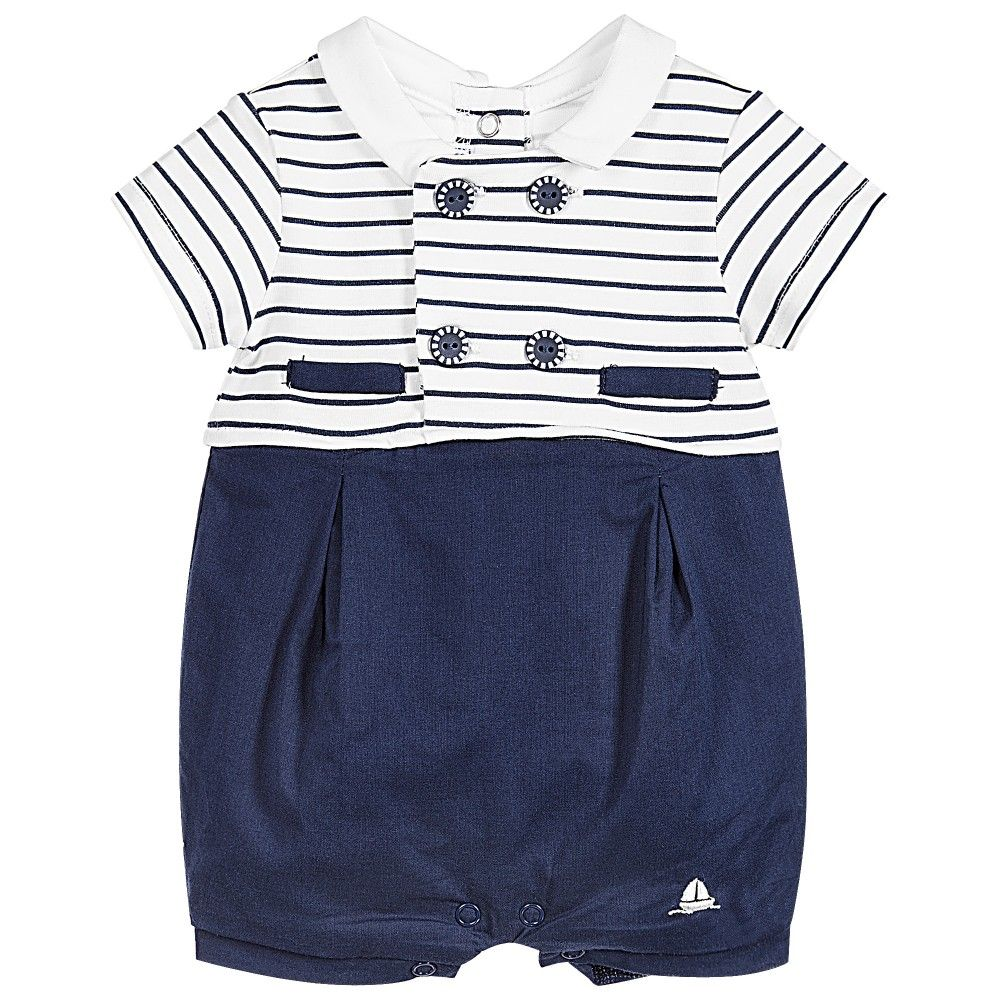 bfeeda598db9 Baby boys nautical style short suit by Mayoral Newborn. Made in navy ...