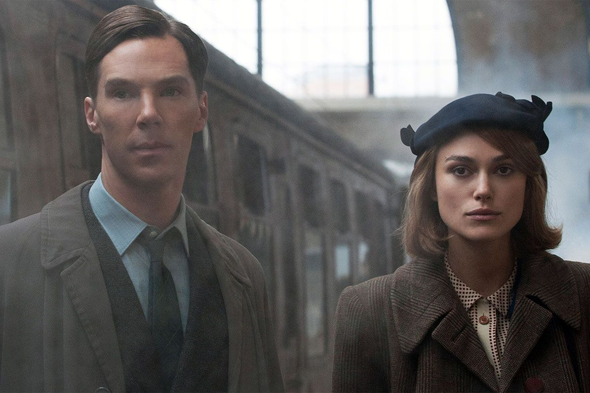 Benedict Cumberbatch as Alan Turing and Keira Knightley as Joan Clarke. This was truly an unforgettable movie with a great cast.