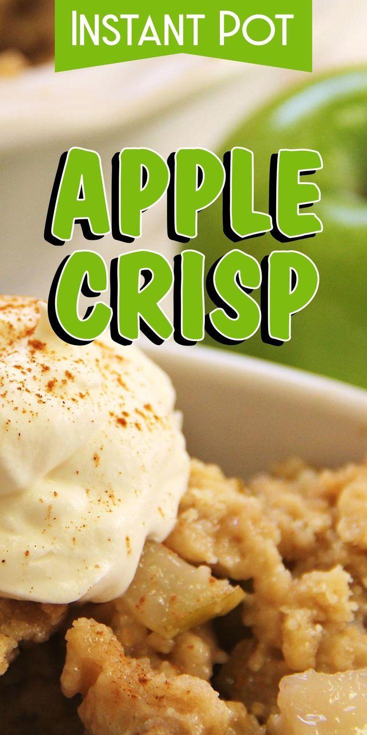 Instant-Topf Apple Crisp - #Apple #Crisp #InstantTopf #instantpotrecipes