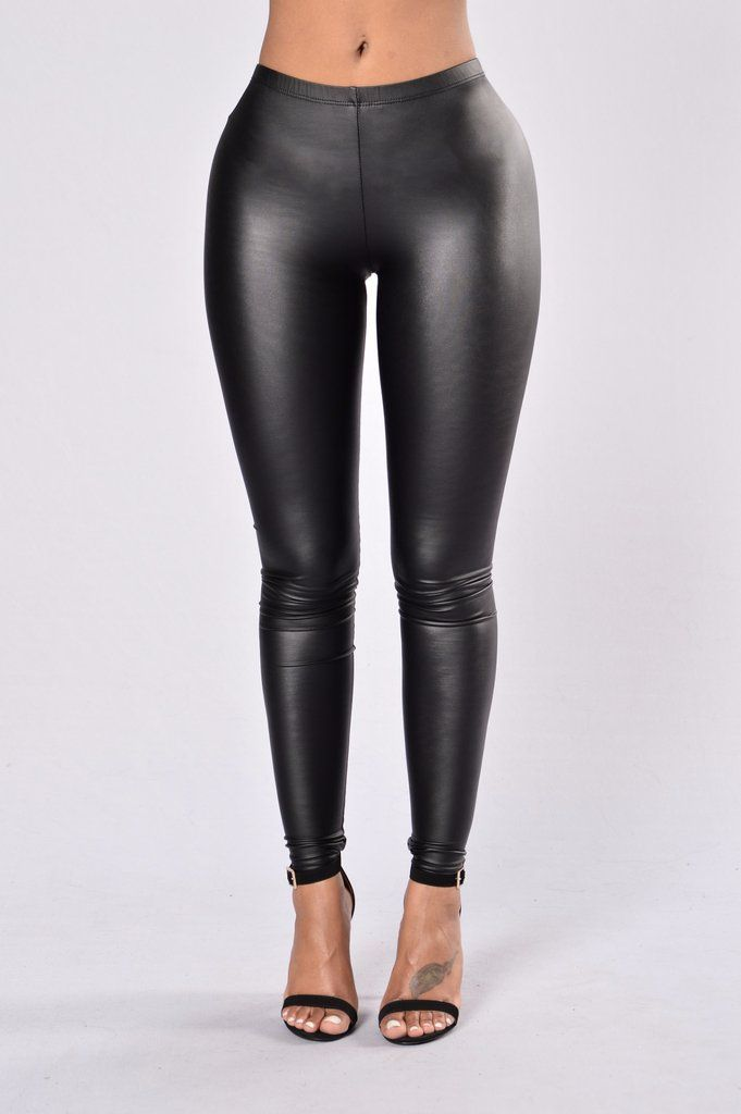 f39ae72b65 Available in Black - Latex Legging - Mid Rise - Elastic Waist - Stretchy -  95% Polyester 5% Spandex