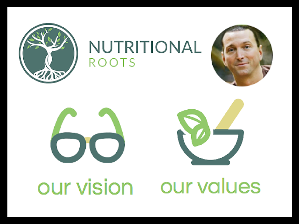 Join us on our path to optimal wellness and learn more about the values that Dr. Todd Pesek has instilled in Nutritional Roots: http://nutritionalroots.com/about/.