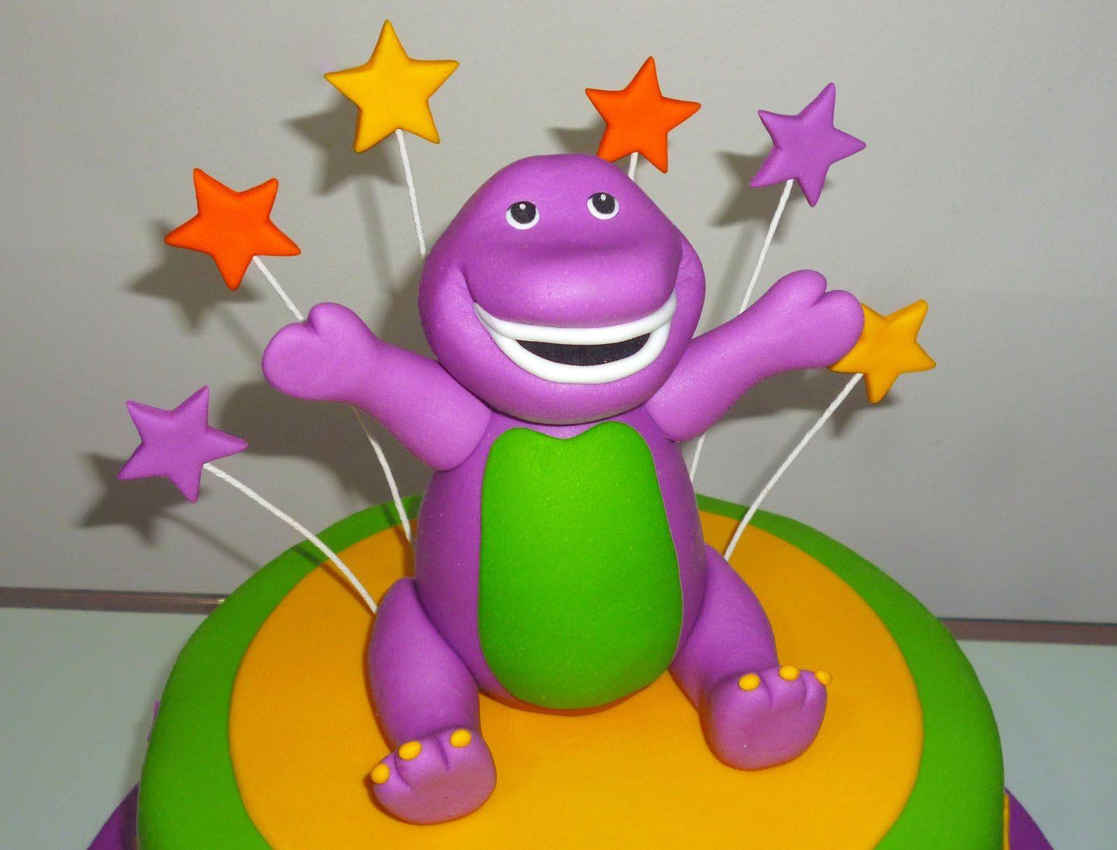 How To Make A Barney Cake Toppers Como Hacer Un Para Tortas