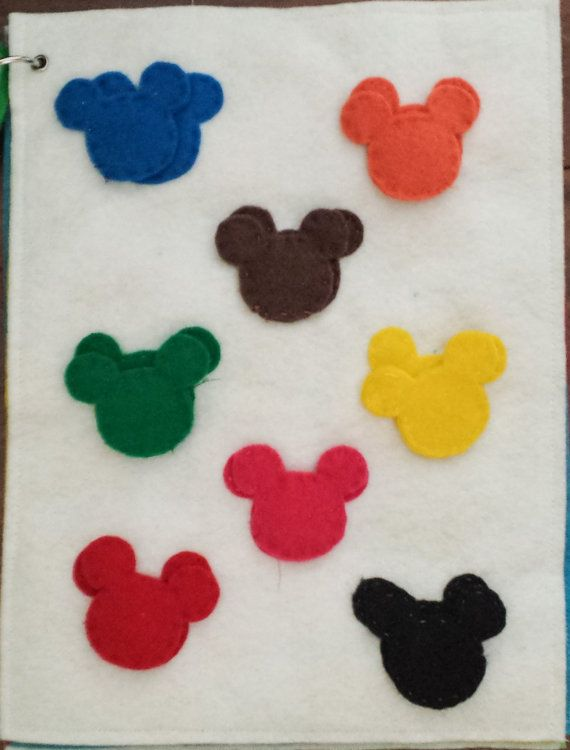 Mickey Mouse Silhouette Color Matching Quiet Activity Book | Disney ...