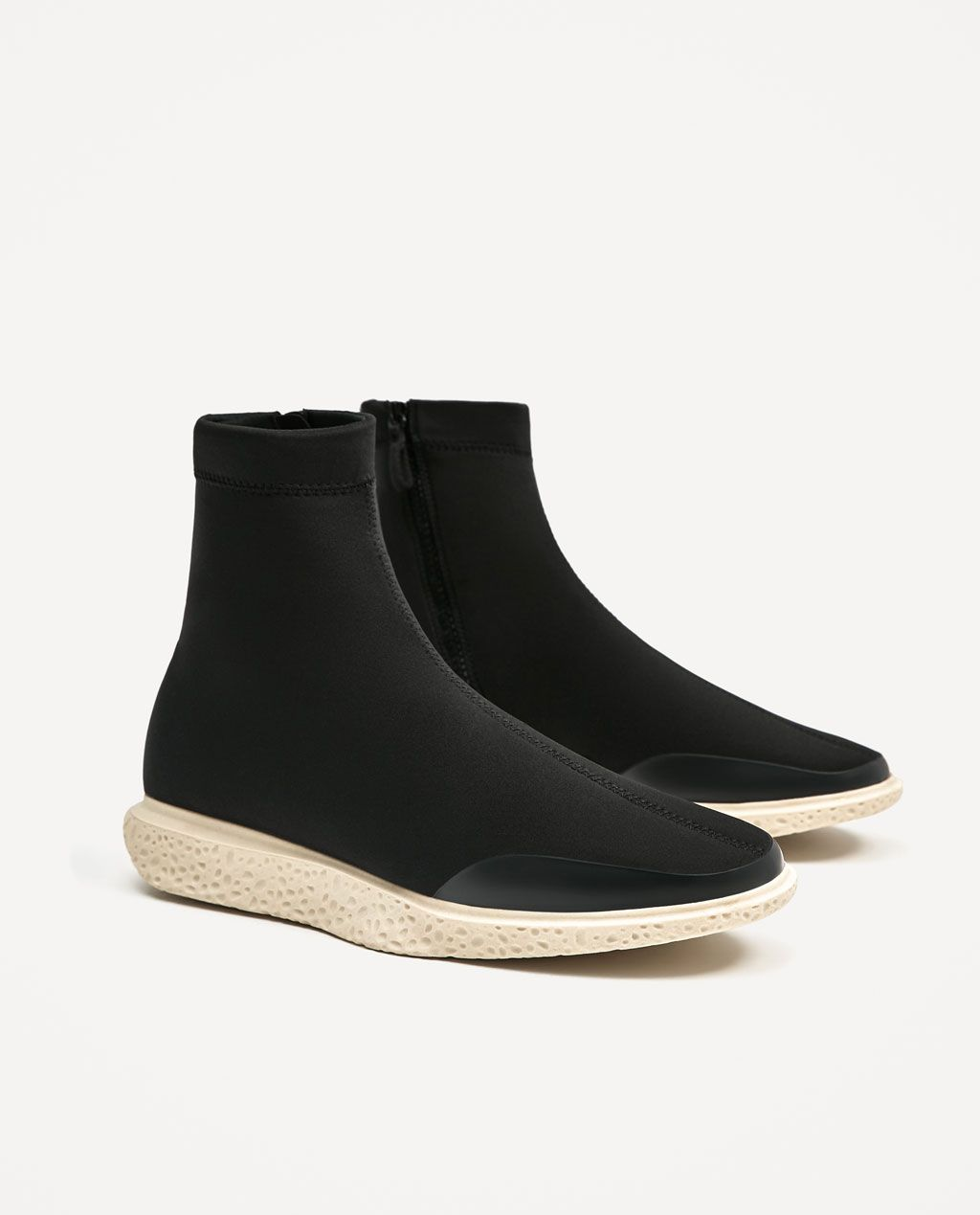 best service a28a3 b9f5d Image 2 of HIGH TOP BLACK SOCK SNEAKERS from Zara