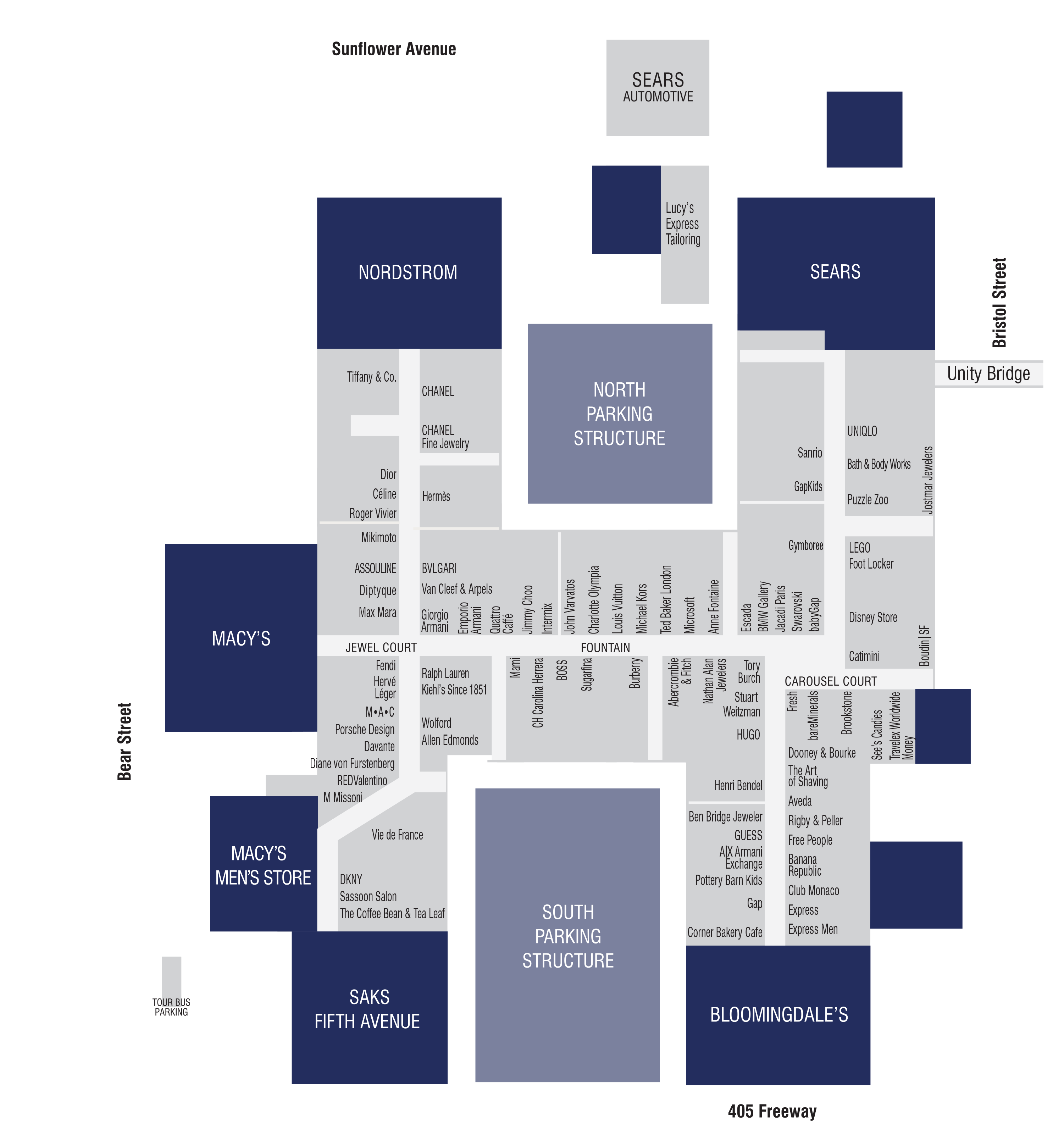 Store Directory South Coast Plaza With Images Men Store