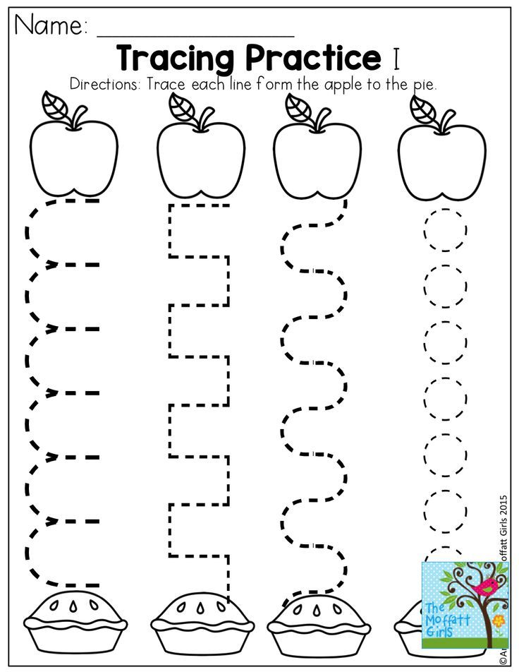 tracing practice and tons of other fun pages for back to school preschool apple crafts. Black Bedroom Furniture Sets. Home Design Ideas