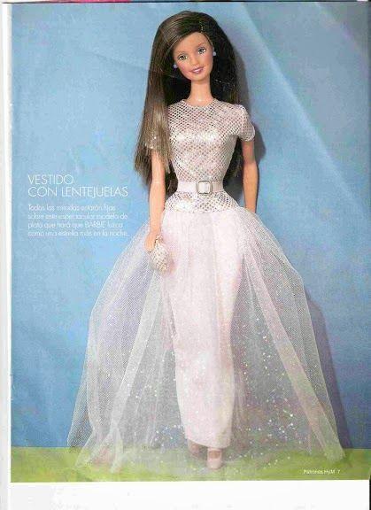 patrones para hacer vestidos de barbie - Revistas de manualidades ...