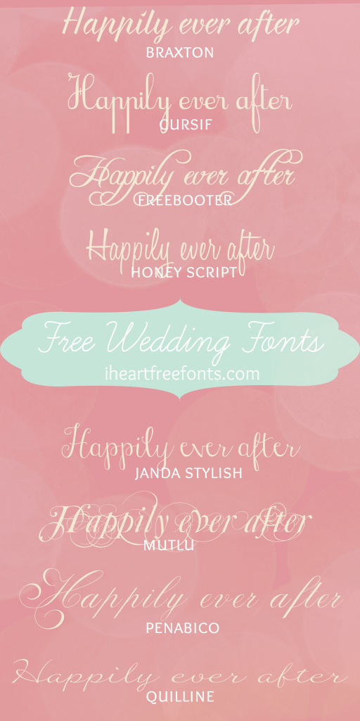 Wedding Fonts for Free ~~ {8 Free fonts w/ easy download links ...