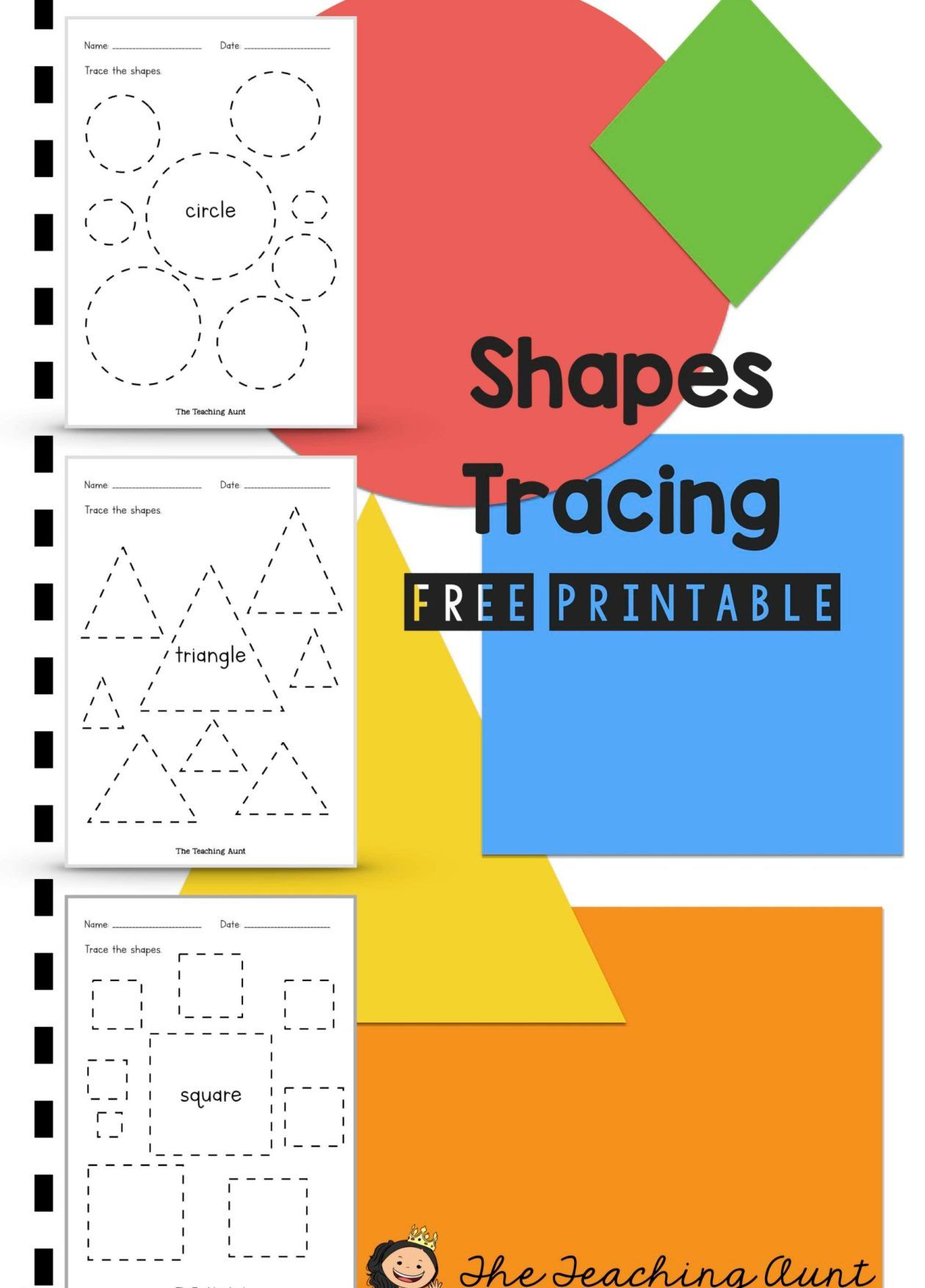 Shapes Tracing Worksheets Free Printable