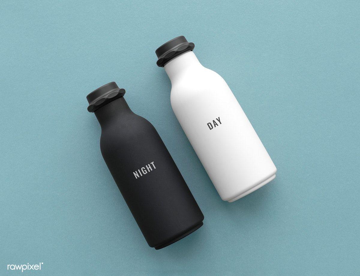 Download Premium Psd Of Minimal Reusable Water Bottle Mockup Design 1209840 Ide Kemasan Botol Botol Minum
