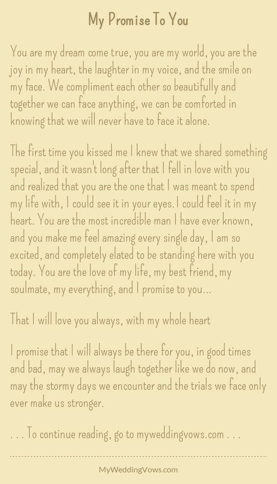 Personalized Wedding Vows Best Photos Wedding Vows