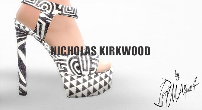 c84cdf2f6aad N.K. Pattern Plarform Sandals by MrAntonieddu at MA ims4 via Sims 4 Updates