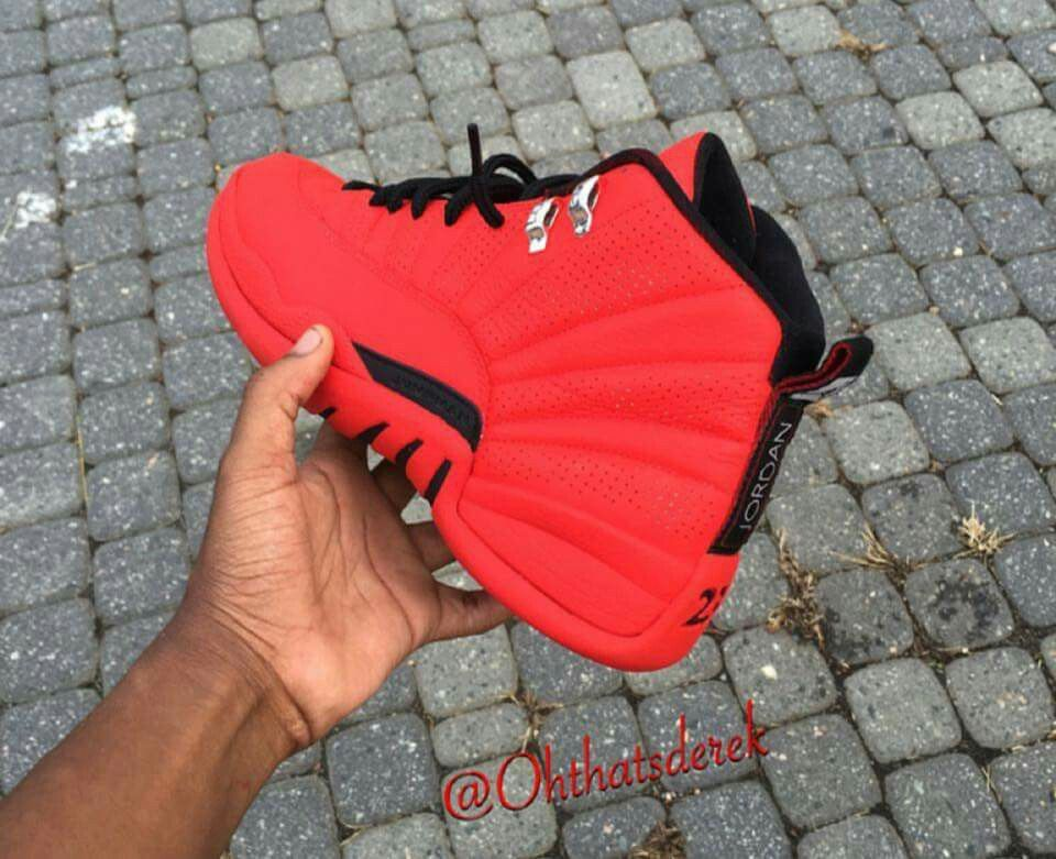 jordan 12 red shoes
