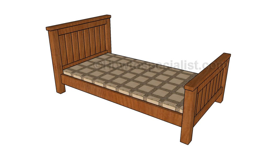 Single Bed Plans Howtospecialist How To Build Step By Step Diy Plans Single Bed Frame Twin Bed Frame Bed Frame Plans