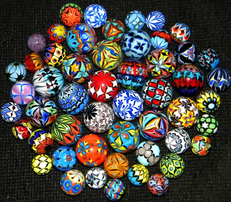 Handcrafted Glass Marbles By Dinah Hulet In The Collection Of Scott Smith Glass Marbles Handcrafted Glass Marble Art