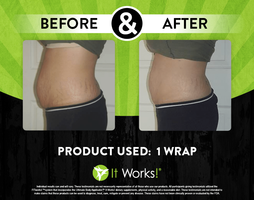 It Works Body Wraps Before And After Stomach Pictures Skin Care