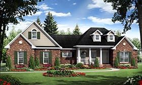 Elevation of Country   European   Traditional   House Plan 59959