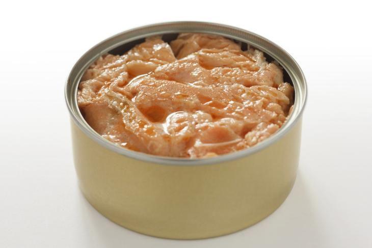 Лосось консервированный салаты