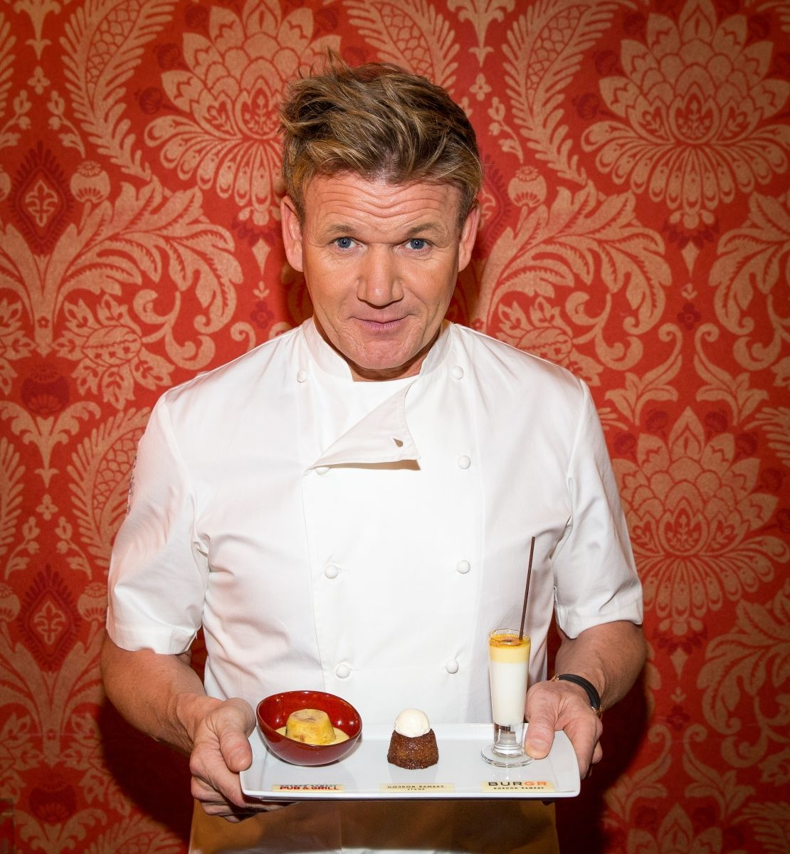 Celebrity chef gordon ramsay shows off his special anniversary celebrity chef gordon ramsay shows off his special anniversary dessert trio at gordon ramsay pub grill in las vegas photo credit erik kabik fandeluxe Gallery
