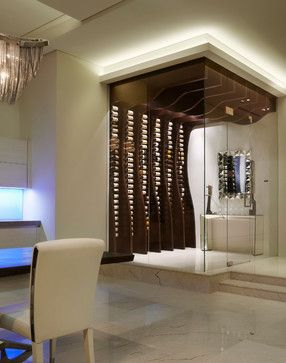 Shore Penthouse - 1000 Ocean - contemporary - Wine Cellar - Miami - Alonso u0026 Associates Inc. & Shore Penthouse - 1000 Ocean - contemporary - Wine Cellar - Miami ...