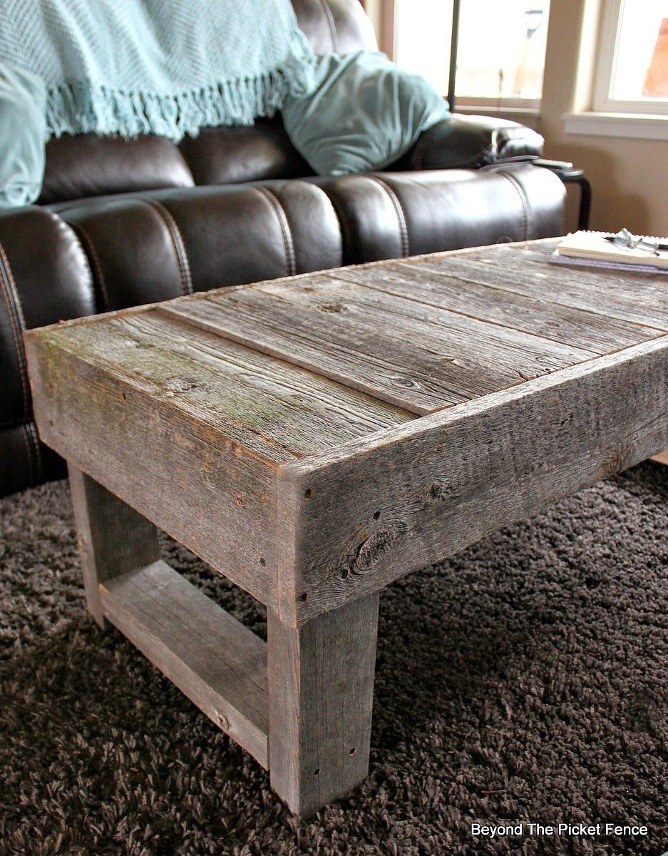 Barn Wood Coffee Table httpbec4beyondthepicketfenceblogspot