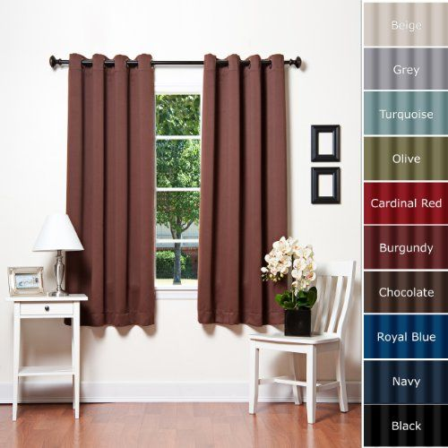 Bedroom Curtains | ... Grommet Top Thermal Insulated Blackout ...