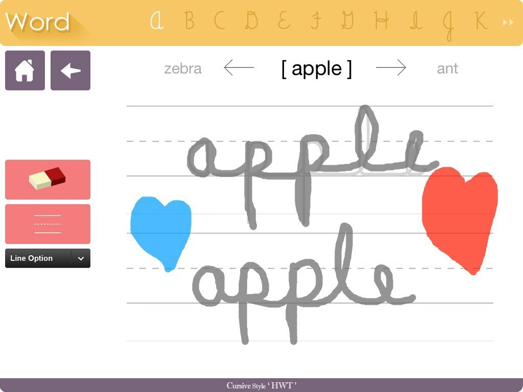 Cursive Handwriting Without Tears App Hannah Loves To