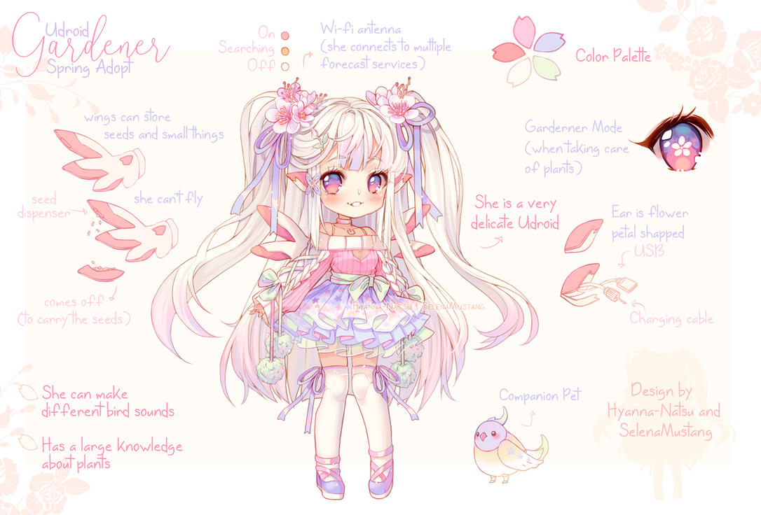 Adopt Udroid Spring Adopt Closed By Https Www Deviantart Com Hyanna Natsu On Deviantart Anime Character Design Cute Kawaii Drawings Character Design