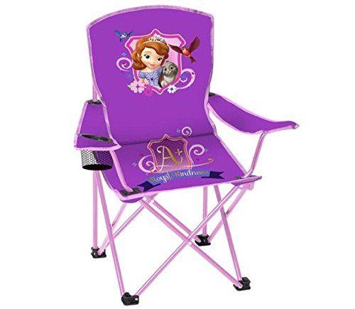 Disney Sofia The First Princess Folding Chair With Cup Holder And Carry Bag  Kids U003eu003e