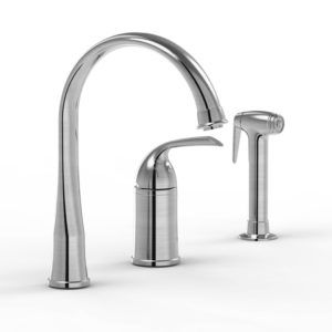 3 Hole Kitchen Faucet With Pull Out Sprayer Http