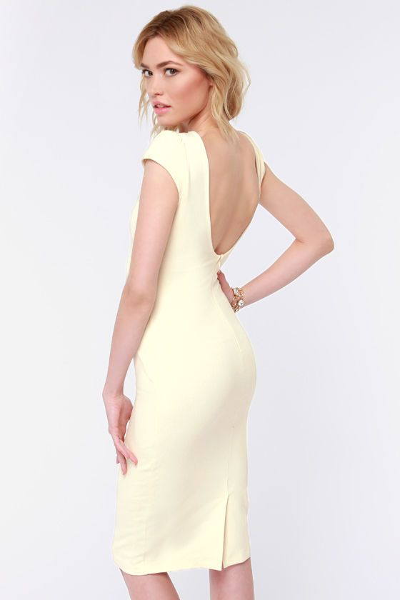 1f9fcf60540a Chic of Nature Cream Bodycon Dress at LuLus.com!