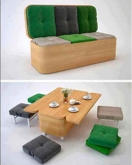 From Sofa To Dining Room Table With Seating For 6 Furniture Small Es Multifunctional