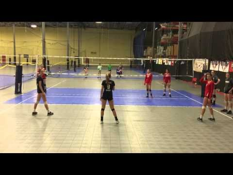 Senior Showcase Middle Hitters Drill Youtube Volleyball Volleyball Conditioning Drill