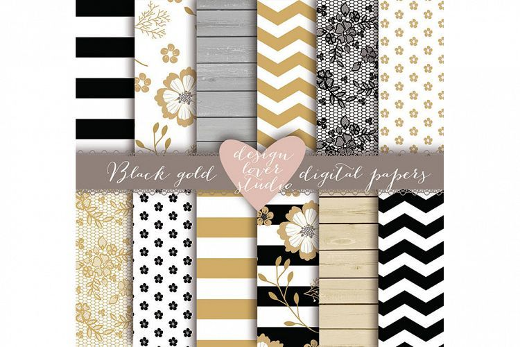 Rustic stripes gold black digital paper perfect for many different - name card example